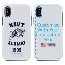 Collegiate Alumni Case for iPhone 12 Mini – Hybrid Navy Midshipmen