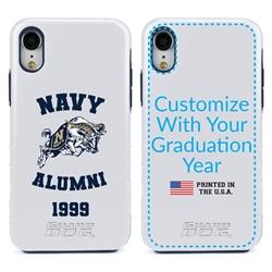 Collegiate Alumni Case for iPhone 12 / 12 Pro – Hybrid Navy Midshipmen