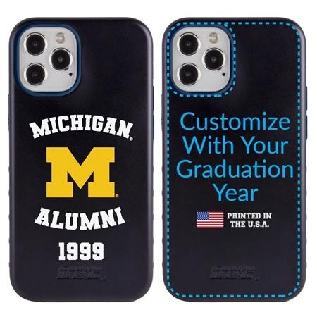 Collegiate Alumni Case for iPhone 12 Pro Max – Hybrid Michigan Wolverines