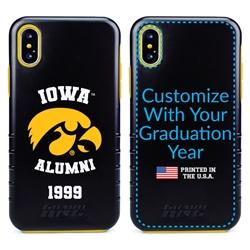 Collegiate Alumni Case for iPhone X / XS – Hybrid Iowa Hawkeyes