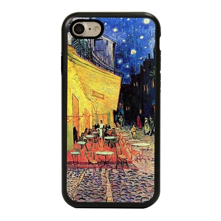 Famous Art Case for iPhone 7 / 8 / SE – Hybrid – (Van Gogh – Café Terrace at Night)