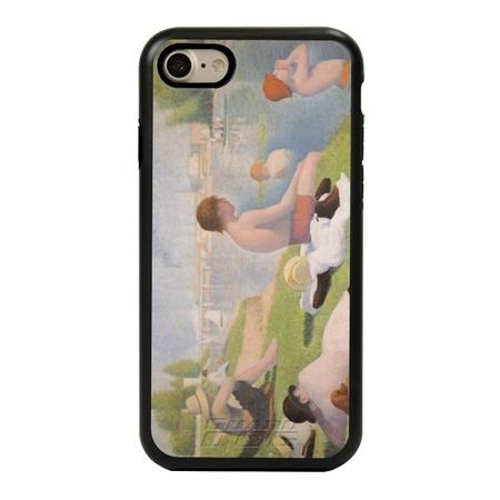 Famous Art Case for iPhone 7 / 8 / SE – Hybrid – (Seurat – Bathers)
