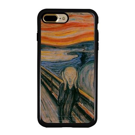 Famous Art Case for iPhone 7 Plus / 8 Plus – Hybrid – (Munch – The Scream)