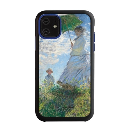 Famous Art Case for iPhone 11 – Hybrid – (Monet – Woman with Parisol)