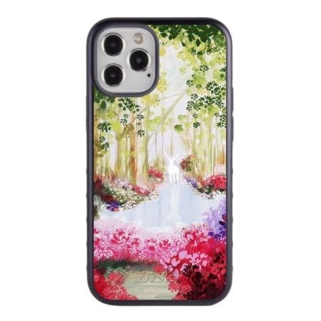 Famous Art Case for iPhone 12 / 12 Pro – Hybrid – (Parke – Patronus Flower)