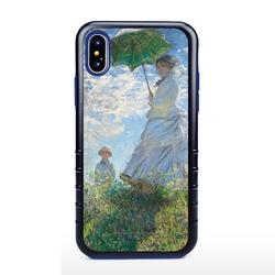 Famous Art Case for iPhone X / Xs – Hybrid – (Monet – Woman with Parisol)
