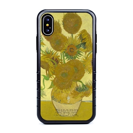 Famous Art Case for iPhone X / Xs – Hybrid – (Van Gogh – Sunflowers)