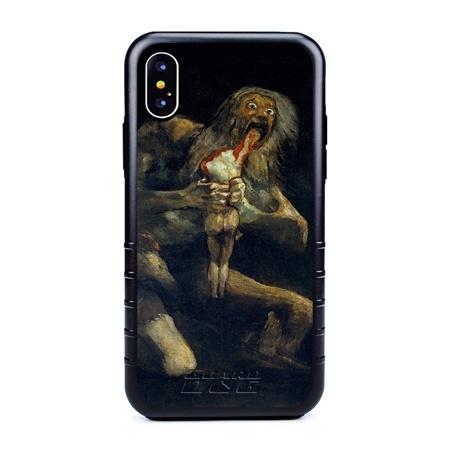 Famous Art Case for iPhone X / Xs – Hybrid – (De Goya – Saturno Devouring his Son)