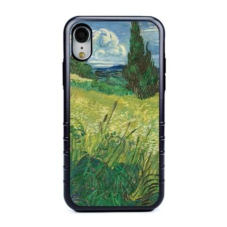 Famous Art Case for iPhone XR – Hybrid – (Van Gogh – Green Field)