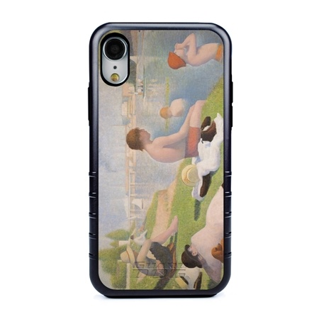 Famous Art Case for iPhone XR – Hybrid – (Seurat – Bathers)