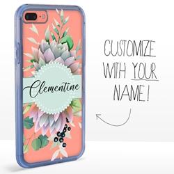 Personalized Cactus and Succulents Case for iPhone 7 Plus / 8 Plus - Clear - Succulent Centerpiece