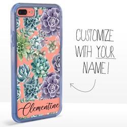 Personalized Cactus and Succulents Case for iPhone 7 Plus / 8 Plus - Clear - Succulent Elegance