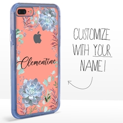 Personalized Cactus and Succulents Case for iPhone 7 Plus / 8 Plus - Clear - Succulent Symmetry