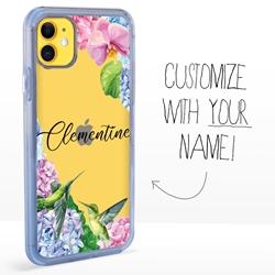 Personalized Bird Case for iPhone 11 - Clear - Hummingbird Fun