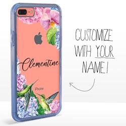 Personalized Bird Case for iPhone 7 Plus / 8 Plus - Clear - Hummingbird Fun