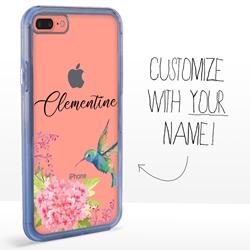 Personalized Bird Case for iPhone 7 Plus / 8 Plus - Clear - Hummingbird Dream