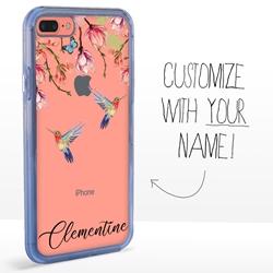Personalized Bird Case for iPhone 7 Plus / 8 Plus - Clear - Hummingbird Brilliance