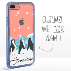 Personalized Bird Case for iPhone 7 Plus / 8 Plus - Clear - Penguin Fun