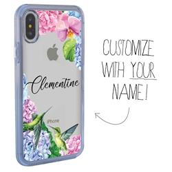 Personalized Bird Case for iPhone X / XS - Clear - Hummingbird Fun