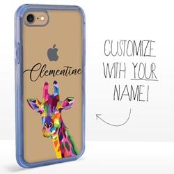 Personalized Majestic Animal Case for iPhone 7 / 8 / SE - Clear - Kaleidoscope Giraffe