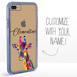 Personalized Majestic Animal Case for iPhone 7 Plus / 8 Plus - Clear - Kaleidoscope Giraffe
