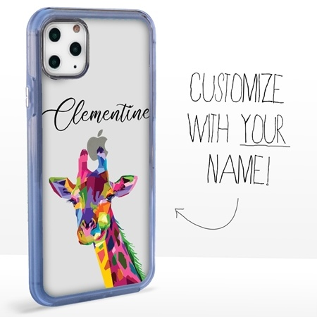 Personalized Majestic Animal Case for iPhone 11 Pro - Clear - Kaleidoscope Giraffe