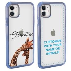 Personalized Majestic Animal Case for iPhone 12 Mini - Clear - Giraffe Love