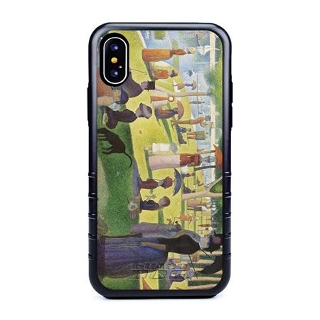 Famous Art Case for iPhone X / Xs – Hybrid – (Seurat – LeGrand Jatte)