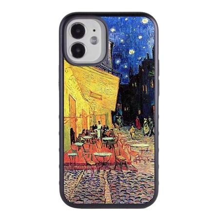 Famous Art Case for iPhone 12 Mini – Hybrid – (Van Gogh – Café Terrace at Night)