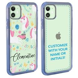 Personalized Unicorn Case for iPhone 12 / 12 Pro - Clear - Unicorn Love