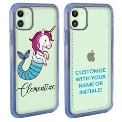 Personalized Unicorn Case for iPhone 12 / 12 Pro - Clear - Mermaid Unicorn