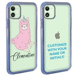 Personalized Unicorn Case for iPhone 12 / 12 Pro - Clear - Unicorn Lamb